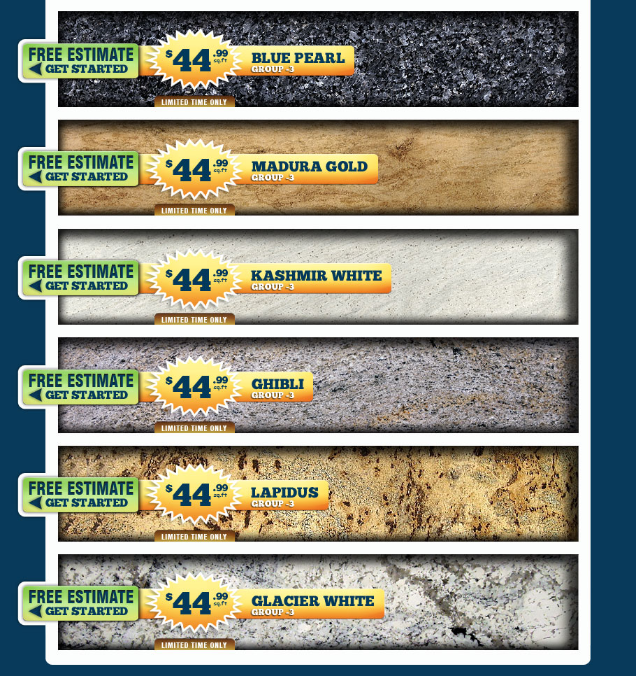 Cheap Granite Countertops. Visit Our Showroom Warehouse And Slab Yard To  Select Your Granite Colors. Affordable Best Prices Granite Colors In Your  Area.